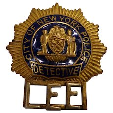 Rare NYPD Memorial Police Badge for Fallen Officer 1978 Vintage