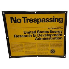 Rare Sign US Energy Research and Development Administration