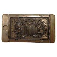 Antique Match Safe Post Civil War Patriotic Combination Cutter & Vesta
