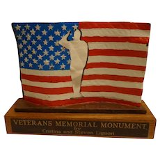 Vintage Bronze Nevada State Veteran's Memorial Monument Patriotic Military WWII Vietnam Korea