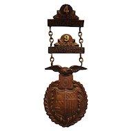 Antique Tiffany Co. Ladder Bronze Ladder Badge Span Am Era Medal Military