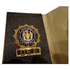 Vintage 1960s NY Police DEA Detective Off Duty Badge with Original Wallet New York
