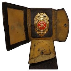 Rare Austin Nevada Fireman Badge Assistant Chief in Wallet