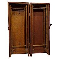Rare American Oak Antique Hanky Drying Box Handkerchief Cabinet 1800s