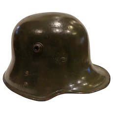 Original WWI 1916 Model German Helmet Modified by the Bulgarian Guard