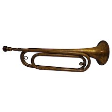 Nice WWII Military Bugle US Regulation with Ruby Embouchure Mouthpiece