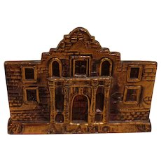 Vintage Alamo Texas Paperweight Copper Made in Japan c. 1960s