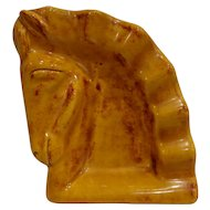Vintage Mid Century Modern Dutch Horse Ashtray Chess Knight Motif Made in Holland