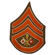 Rare Pre WWI Sgt 1st Class US Army Signal Corps Chevron Patch