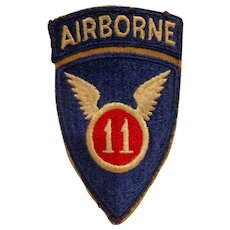 Original WWII 11th Airborne Division Patch US Army Paratrooper