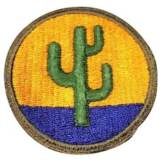Original WWII 103rd Infantry Patch US Army Colorado Arizona New Mexico