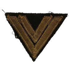 Original WWII Sleeve Cut Kriegsmarine Chevron Ranked German Navy Military