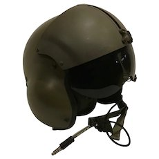 Vintage Helicopter Pilot Helmet Dated 1986 in Very Nice Condition Military