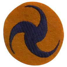 WWII Army Air Corps Headquarters Pinwheel Patch Felt AAC
