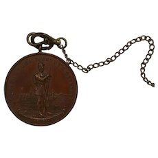 Antique Bronze Civil War Medal Defenders of Our Country 1861-1865 with Abraham Lincoln Quote