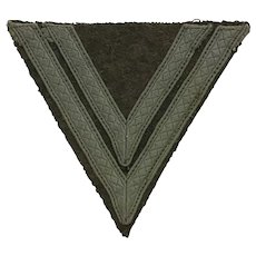 Original WWII German Army Obergefreiter Rank Chevron Patch