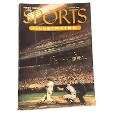 Vintage 1st Edition Sports Illustrated August 16, 1954 Baseball Magazine with Cards
