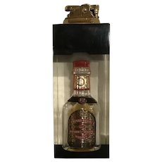 Vintage Chivas Regal Novelty Mini Bottle Lighter Scotch Whiskey Barware