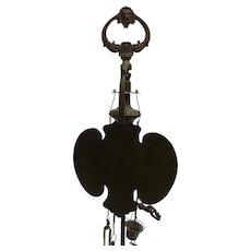 Important Antique Bronze Whale Oil Lamp Gothic Revival Victorian Owl