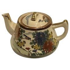 Vintage Japanese Satsuma Kutani Teapot Art Deco Period