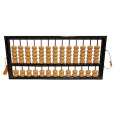 Large Vintage Abacus Asian Counting Chinese Japanese