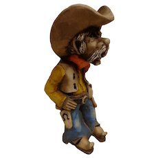 Adorable Vintage Cowboy Sculpture by Shade Tree Creations Old West Gunslinger