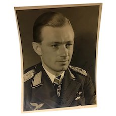 Rare Signed Photo of Luftwaffe Ace Helmut Lent KIA 1944 German WWII
