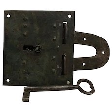 Rare Antique Jailhouse Lock Prison Old West with Key American Cowboy