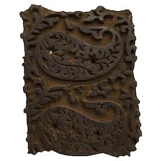 Rare Aesthetic Movement Victorian Plaster Mold Stamp Architectural Restoration