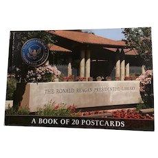 Ronald Reagan Presidential Library Postcard Book of 20 Patriotic Republican