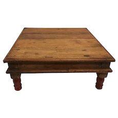 1920s India Hindu Footed Bajot Chowki Small Table for Daily Prayers Chaurang Patli Puja Pooja
