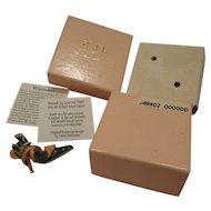 Vintage KJL Enamel Shoe High Heel Pump Pin Brooch New in Box