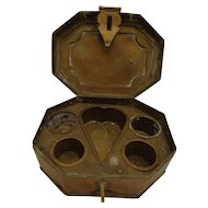 Antique c. 1900 - 1920 Brass Tea / Spice / Snuff Box Persian