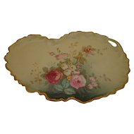 Gorgeous Limoges Rose Dresser Tray William Guerin & Co France WG & Co