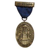 Vintage Ohio Named Masonic Lodge 50 Year Medal Award Faithful Service