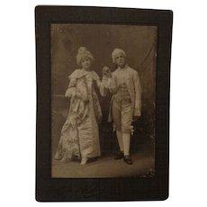 Antique San Francisco Photograph Child Actors 18th Century French Dress Cabinet Card