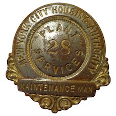 Vintage New York City Housing Authority Badge from the Projects NYC