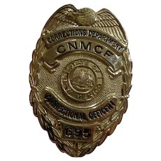 Vintage State of New Mexico Prison Guard Badge Correctional Officer Numbered