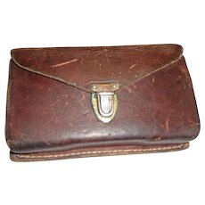 Vintage Sears Roebuck Leather Rifle Cartridge Belt Holder Case Hunting 1950