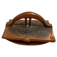 Antique Art Nouveau Copper Ink Blotter Desk Accessory Office