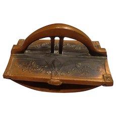 Antique Art Nouveau Copper Ink Blotter Desk Accessory Office