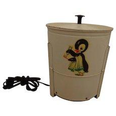 Fantastic 1930s Electric Toy Washing Machine Tin Litho Penguin Litho Washer