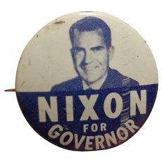 Vintage Political Pin Nixon for Governor Scarce Republican Party GOP