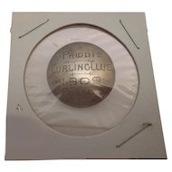 Rare Antique Canadian Curling Club Award Button Badge from Priddis Alberta Canada
