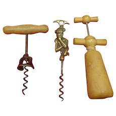 Lot of 3 Vintage Corkscrews Estate Wine Collectible