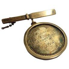 Rare Cased Antique St Louis Pharmacy College Award Medal Named 1916 Medical