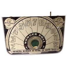 Vintage Dice Gambling Game of Chance Early Las Vegas Gaming