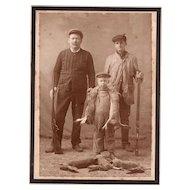 Rare California Hunting Cabinet Photo Antique Photograph with Shotgun