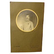 WWI French Photograph War Hero with Croix de Guerre and Palm Military