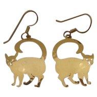 Vintage Kitty Cat Earrings by Wild Bryde Jewelry
